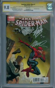 Amazing Spider-man #1 Opena Variant 1:75 CGC 9.8 Signature Series Signed x4 Stan Lee Marvel comic book